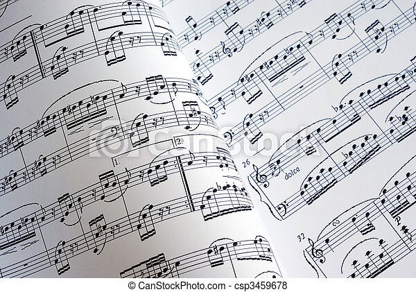 Viewing of two music sheets under different light sources