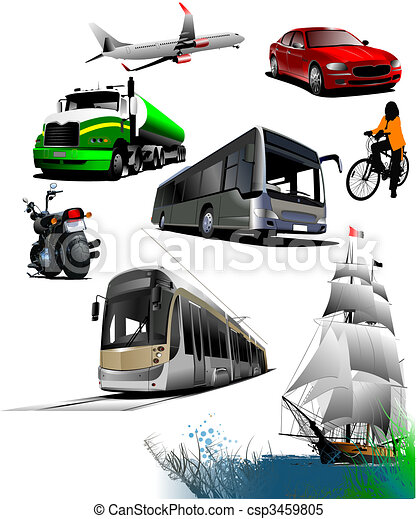 All kinds of transport. Vector illustration - csp3459805