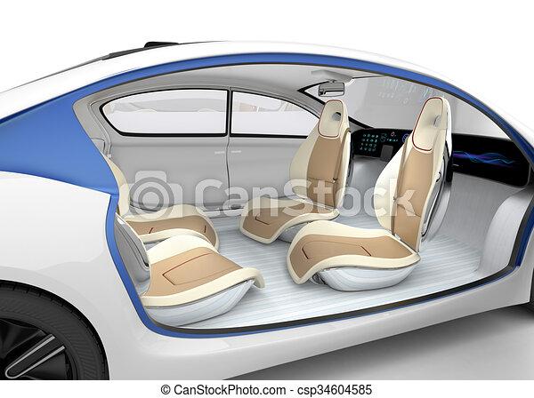 stock illustration of autonomous car 39 s interior concept the car offer folding csp34604585. Black Bedroom Furniture Sets. Home Design Ideas