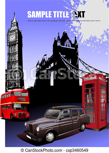 London images background. Vector illustration - csp3460549