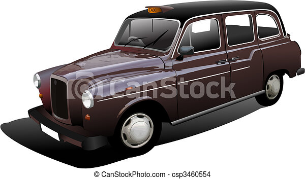 London taxicab. Vector illustration - csp3460554