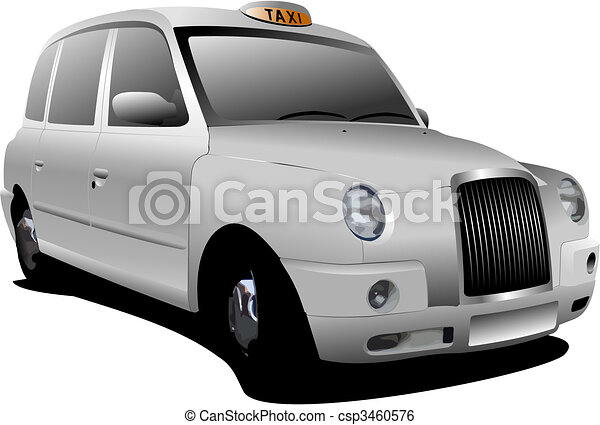 London white taxicab. Vector illustration - csp3460576