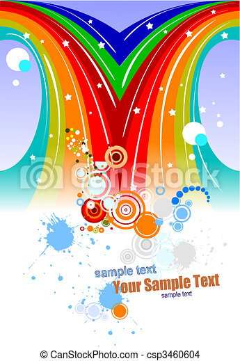 Colored festival background. Vector illustration - csp3460604