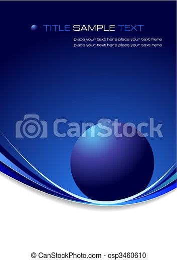 Blue business background. Vector illustration - csp3460610