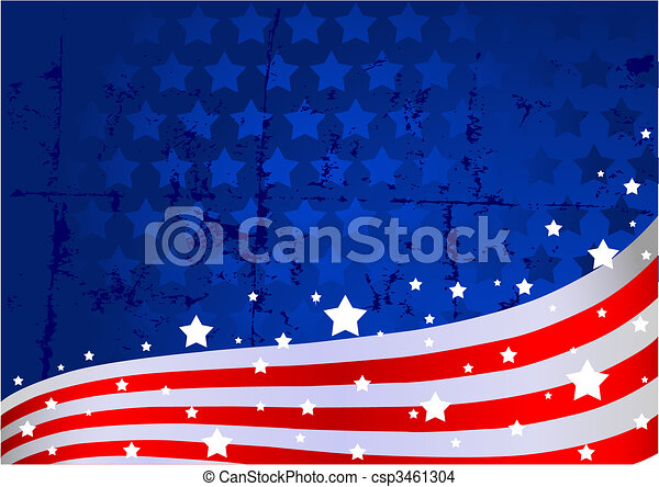 American flag background - csp3461304
