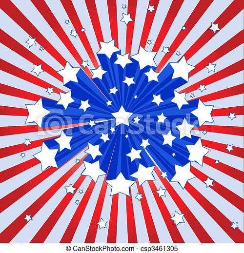American starburst background - csp3461305