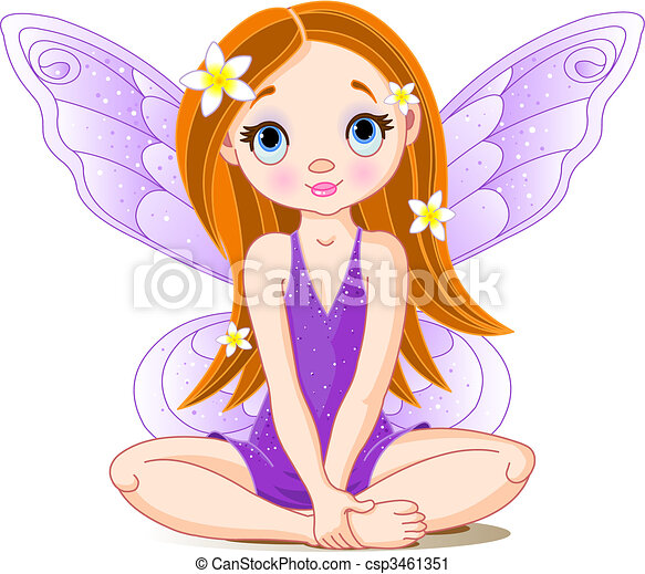 Little cute  fairy - csp3461351
