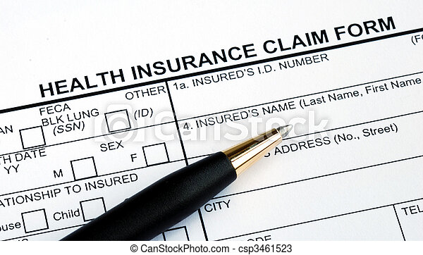 Stock Photos Of Filling The Health Insurance Claim Form With A Pen