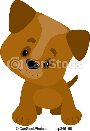 clipart of 3d cute puppy dog has a big nose - 3d render of a cute