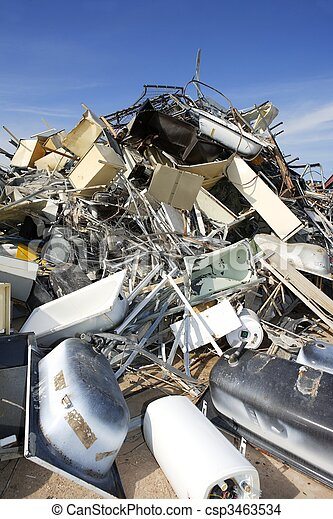 metal scrap recycle ecological factory environment - csp3463534