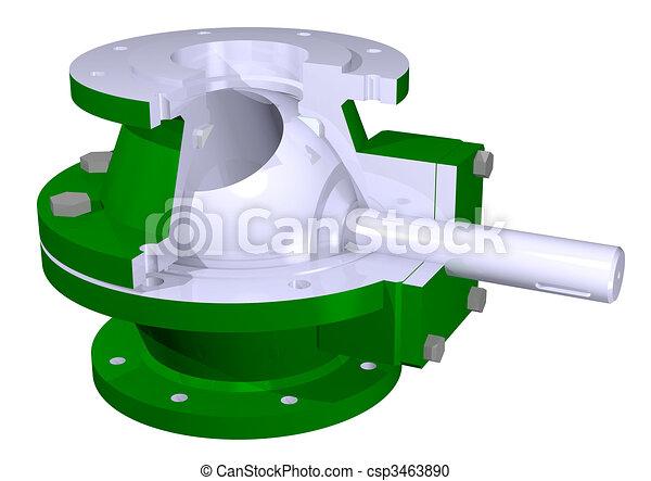 Ball valve illustration - csp3463890