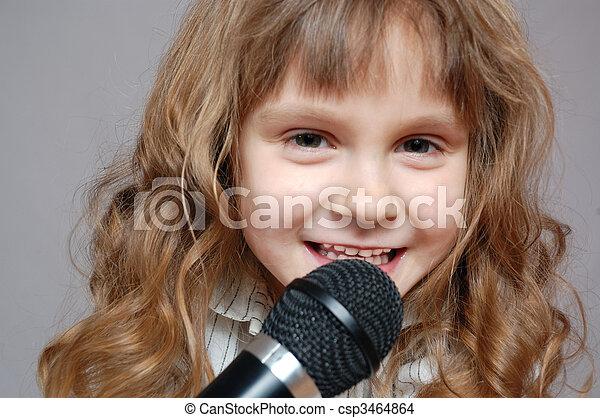 childhood singing - csp3464864