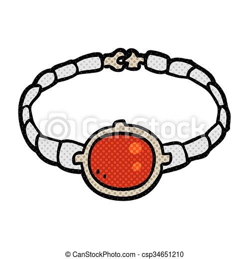 Armband clipart  Vektor Clipart von rubin, armband, karikatur - freehand ...
