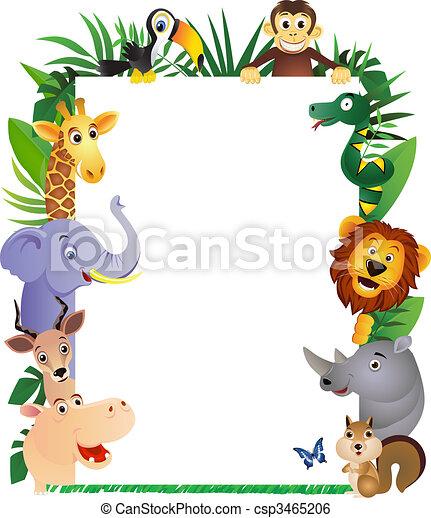 tecknad film, djur - csp3465206