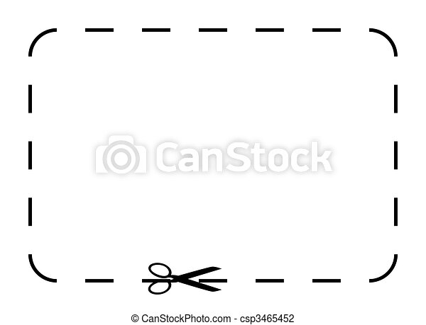 Drawings Of Blank Coupon Or Voucher - Silhouetted Black Voucher Or