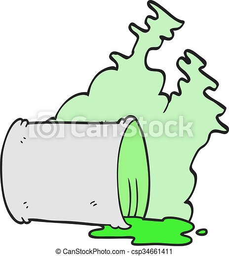 Vector Clip Art of cartoon spilled chemicals - freehand drawn ...