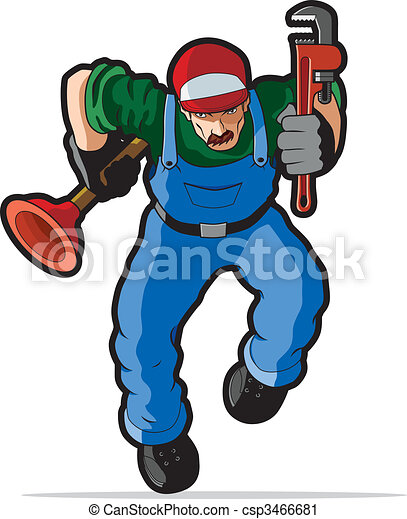 Plumber vector illustration. - csp3466681