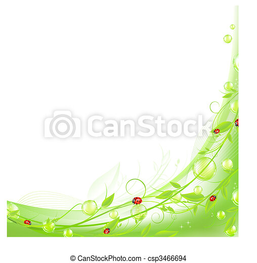 abstract wavy frame in green
