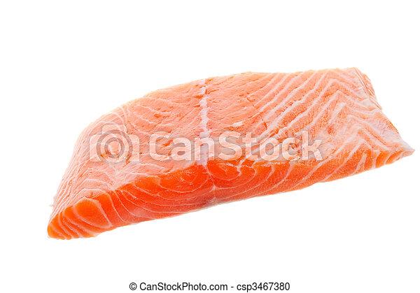 Raw salmon - csp3467380