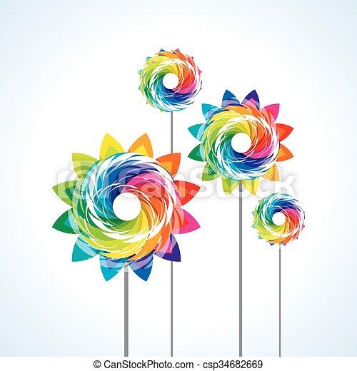 a toy pinwheel - csp34682669