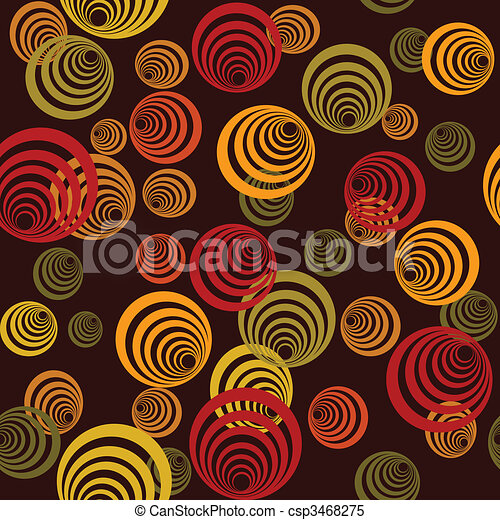 Seamless retro pattern with circles - csp3468275