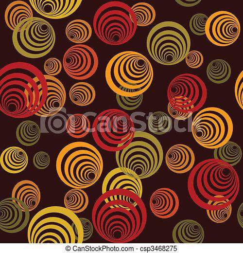 Seamless retro pattern with circles - csp3468275