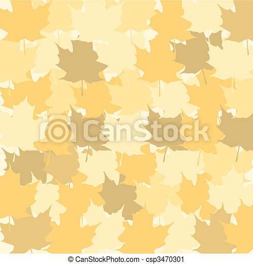 multicolored dried autumn leaves background. autumn vector  - csp3470301