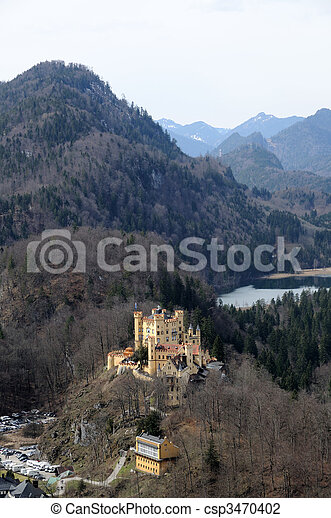 Historic Castle Hohenschwangau in Bavaria, Germany - csp3470402