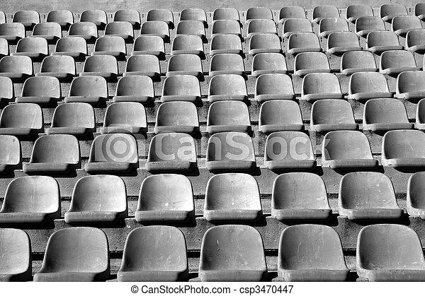 aged stadium grandstand stands pattern - csp3470447