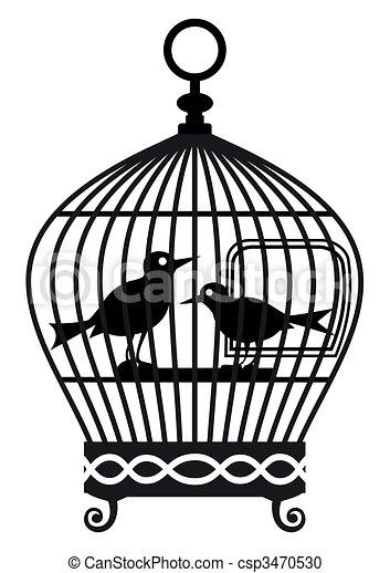 Vintage birdcage - vector graphic - csp3470530