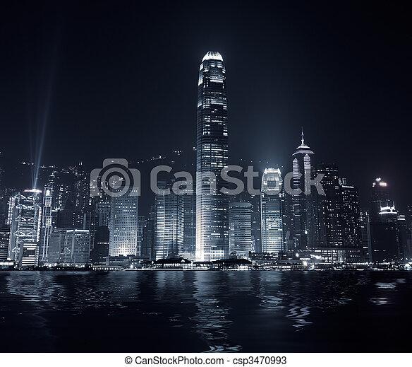 City landmark of Hong Kong - csp3470993