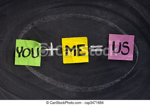 you and me - relationship concept - csp3471684