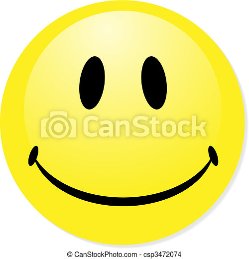 Vector smiley yellow emoticon. Perfect for icon, button, badge. Blend shadow. - csp3472074