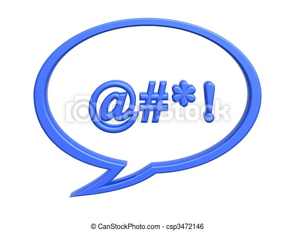 chat bad language symbol - csp3472146