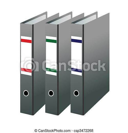 Three office folders - csp3472268