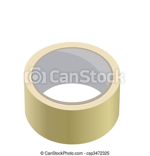 Realistic illustration of adhesive tape - csp3472325
