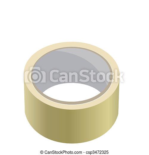 Realistic illustration of adhesive tape - csp3472325