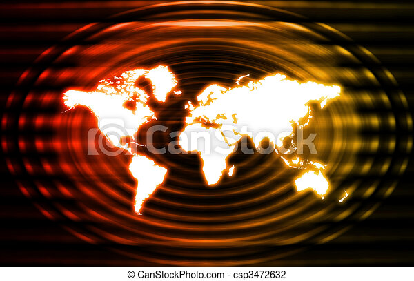 Telecommunications Industry Global Network - csp3472632