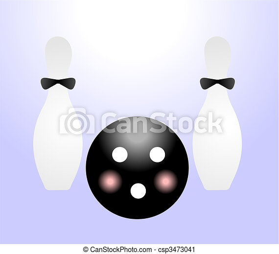 Illustration ball and pin for bowling - csp3473041