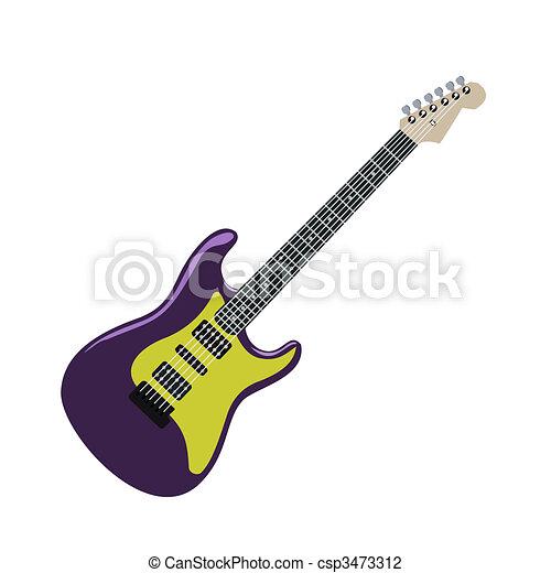 Realistic illustration electric guitar - csp3473312