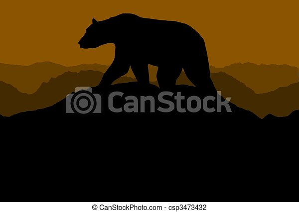 Bear On Horizon - csp3473432