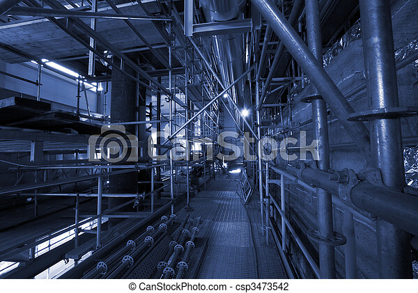 Scaffolding On An industrial  construction Site    - csp3473542