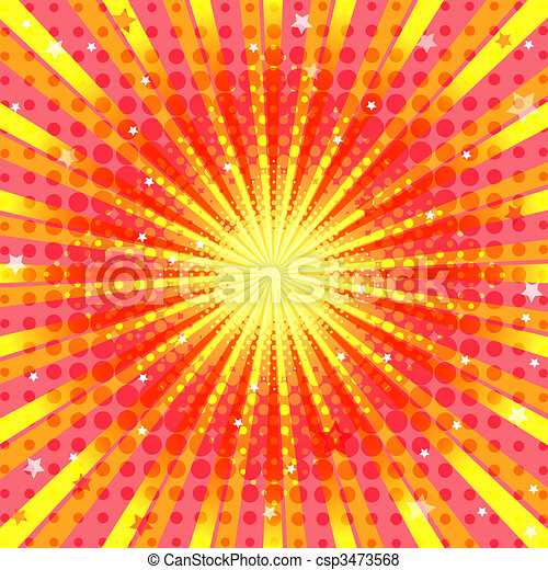 Abstract vivid orange background - csp3473568