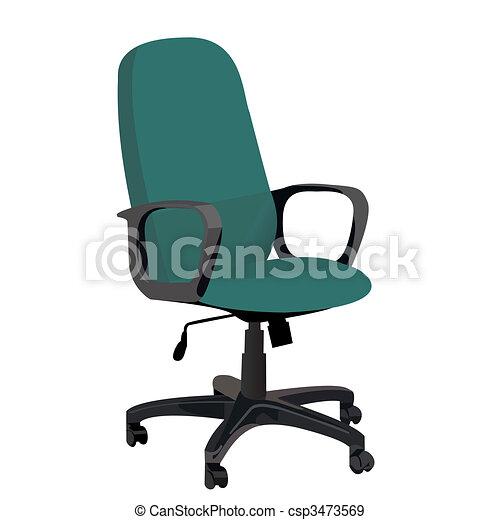 Realistic illustration office armchair - csp3473569