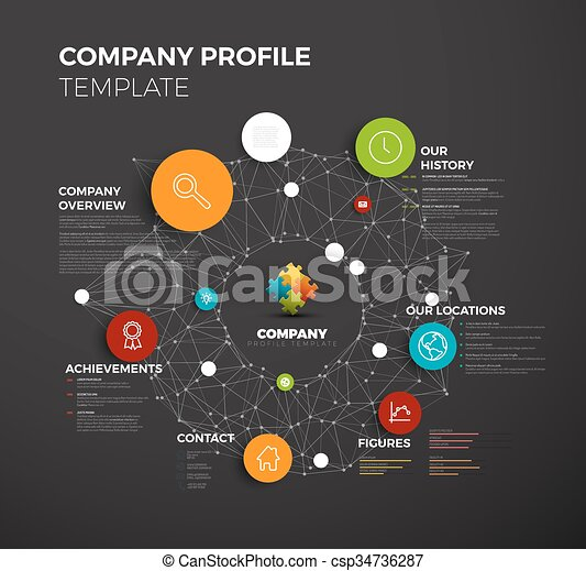 Vector of Vector Company infographic overview design template with ...