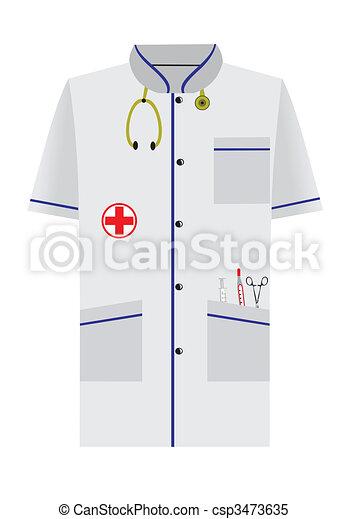 Clipart Vektor von kleid medizin freigestellt hintergrund soe