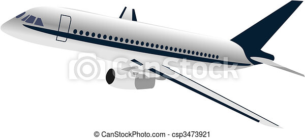 Realisic illustration airplane - csp3473921