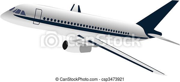 Realisic illustration airplane - csp3473921