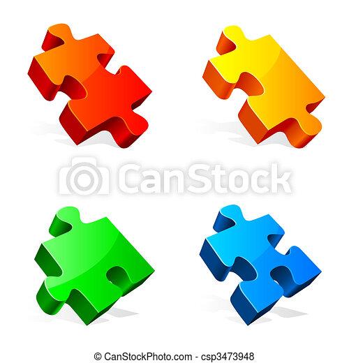 Puzzle pieces. - csp3473948