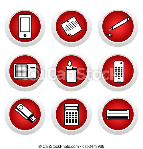 Icon set of home appliances - csp3473986